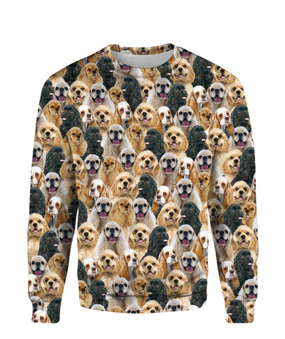 American Cocker Spaniel - Full Face - Premium Sweatshirt