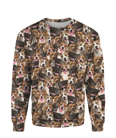 American Staffordshire Terrier Full Face Sweatshirt