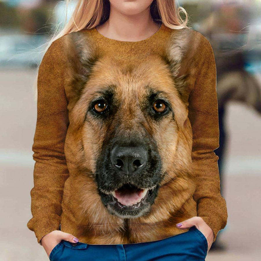 German Shepherd - Face Hair - Premium Sweatshirt