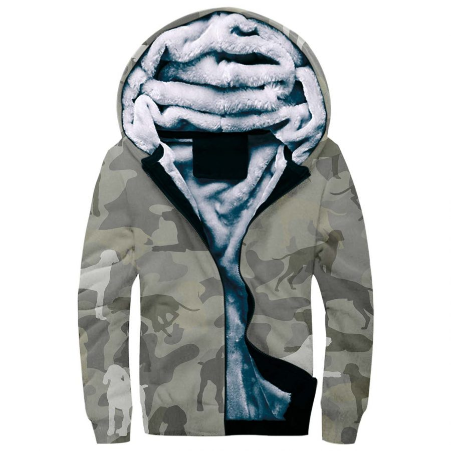 German Shorthaired Pointer Camo Fleece Hoodie