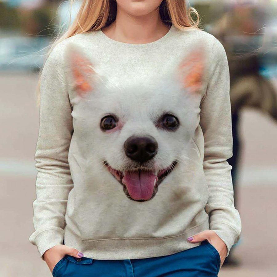 German Spitz - Face Hair - Premium Sweatshirt