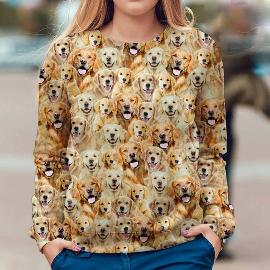 Golden Retriever - Full Face - Premium Sweatshirt