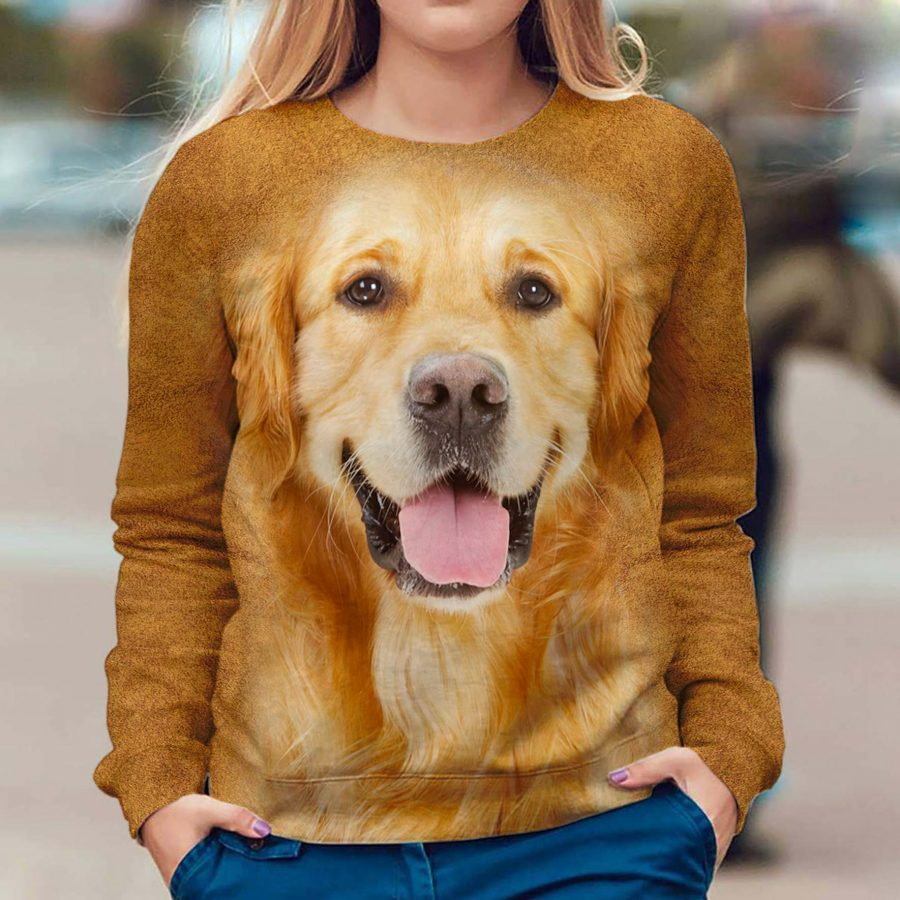 Golden Retriever - Face Hair - Premium Sweatshirt