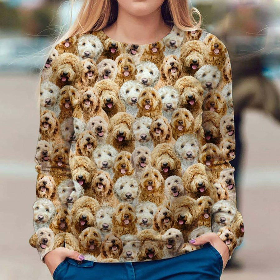 Goldendoodle - Full Face - Premium Sweatshirt