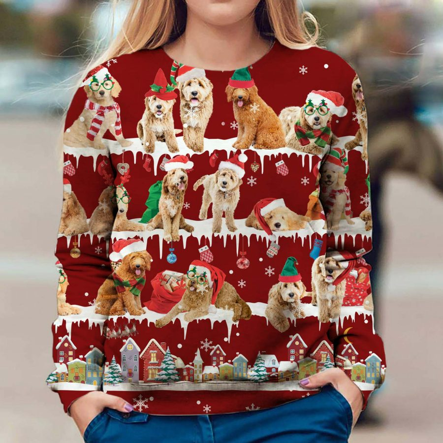 Goldendoodle - Snow Christmas - Premium Sweatshirt