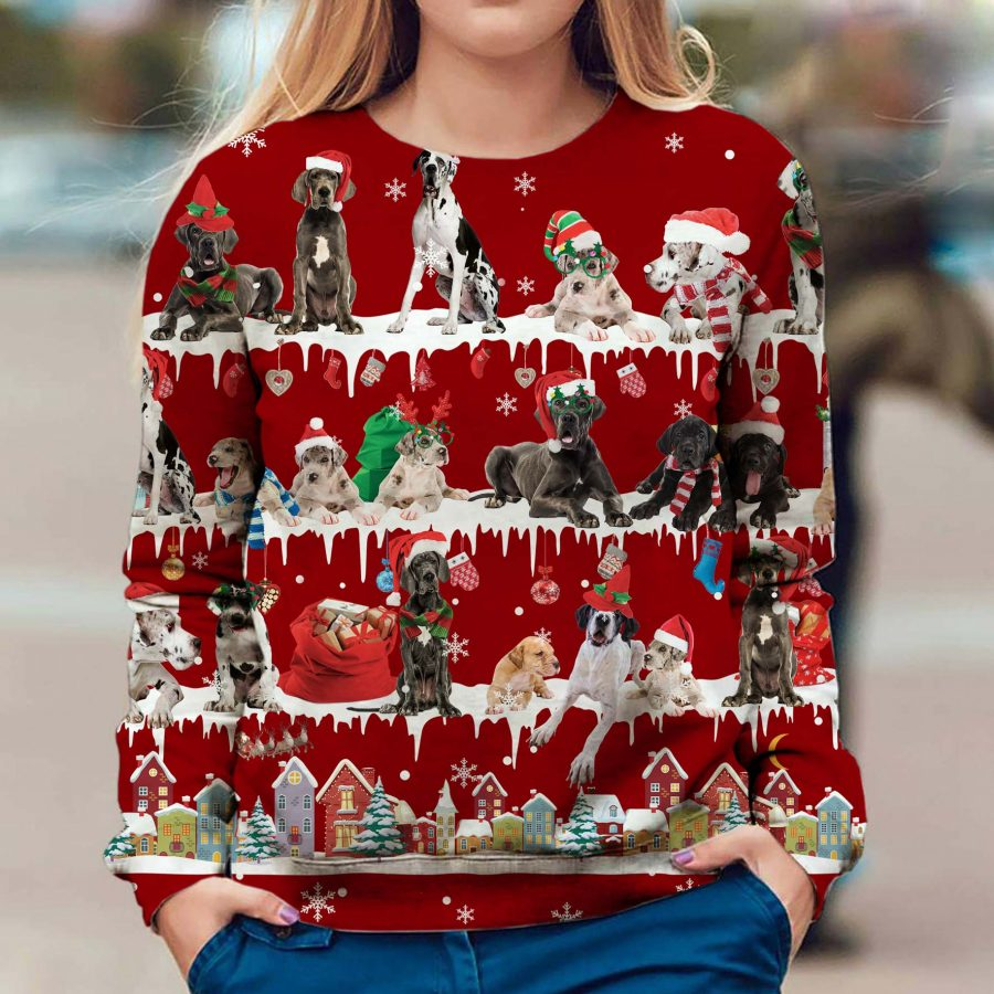 Great Dane - Snow Christmas - Premium Sweatshirt