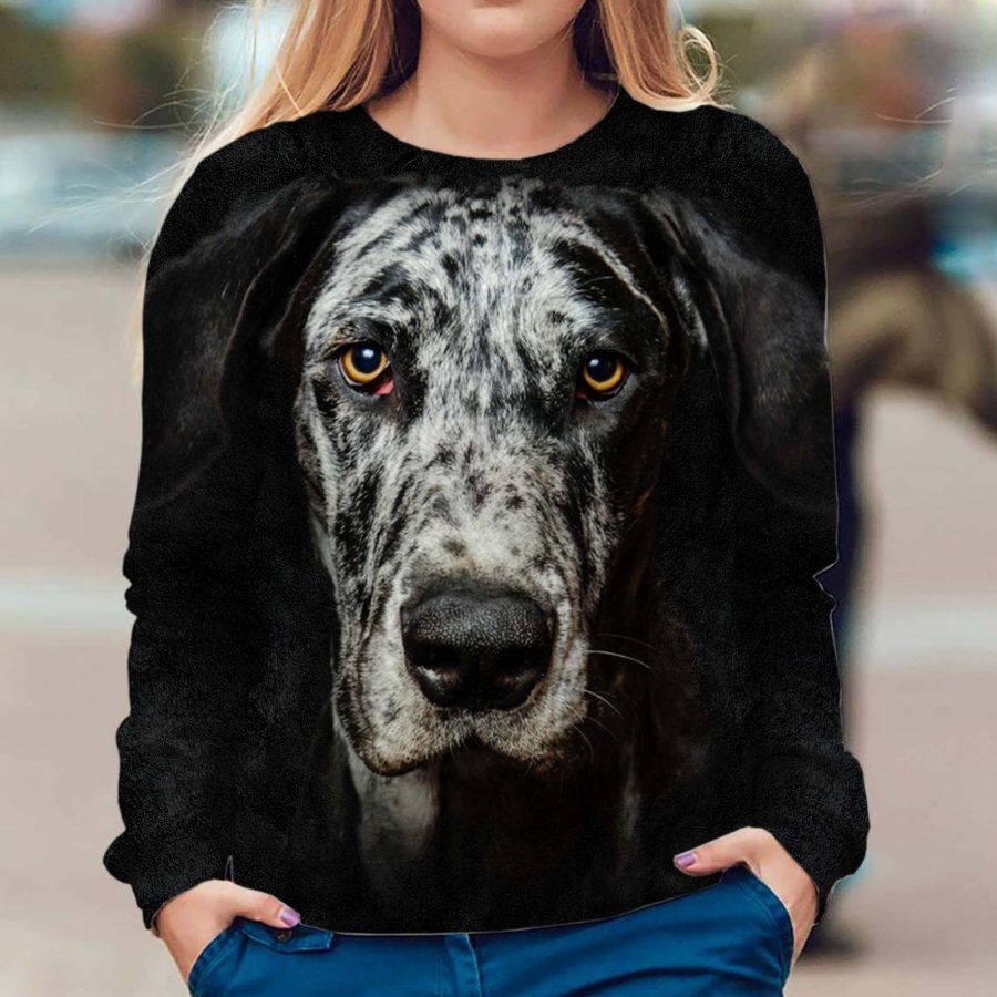 Great Dane - Face Hair - Premium Sweatshirt