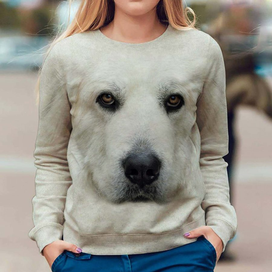 Great Pyrenees - Face Hair - Premium Sweatshirt