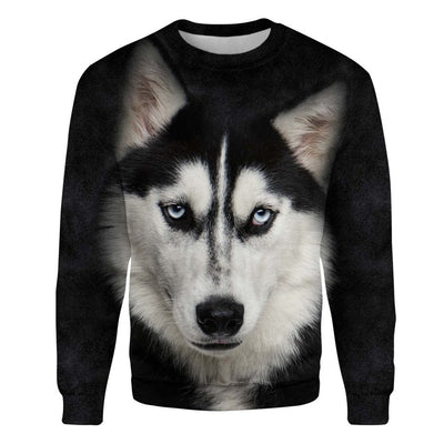 Husky - Face Hair - Premium Sweatshirt