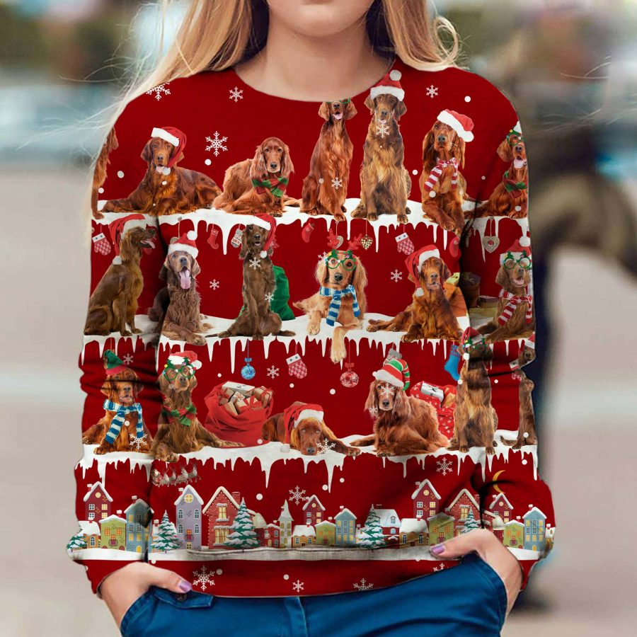 Irish Setter - Snow Christmas - Premium Sweatshirt