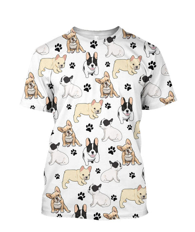 French Bulldog Paw Tee 3D