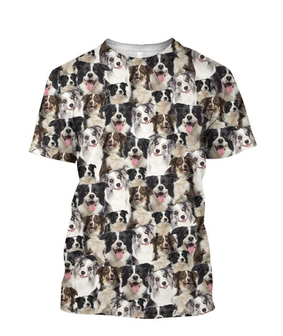 Border Collie Full Face T-shirt