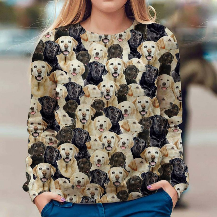 Labrador Retriever - Full Face - Premium Sweatshirt