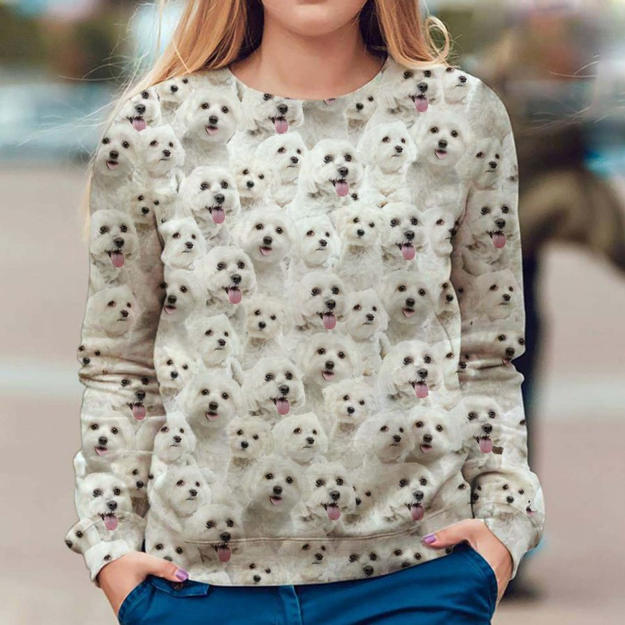 Maltese - Full Face - Premium Sweatshirt