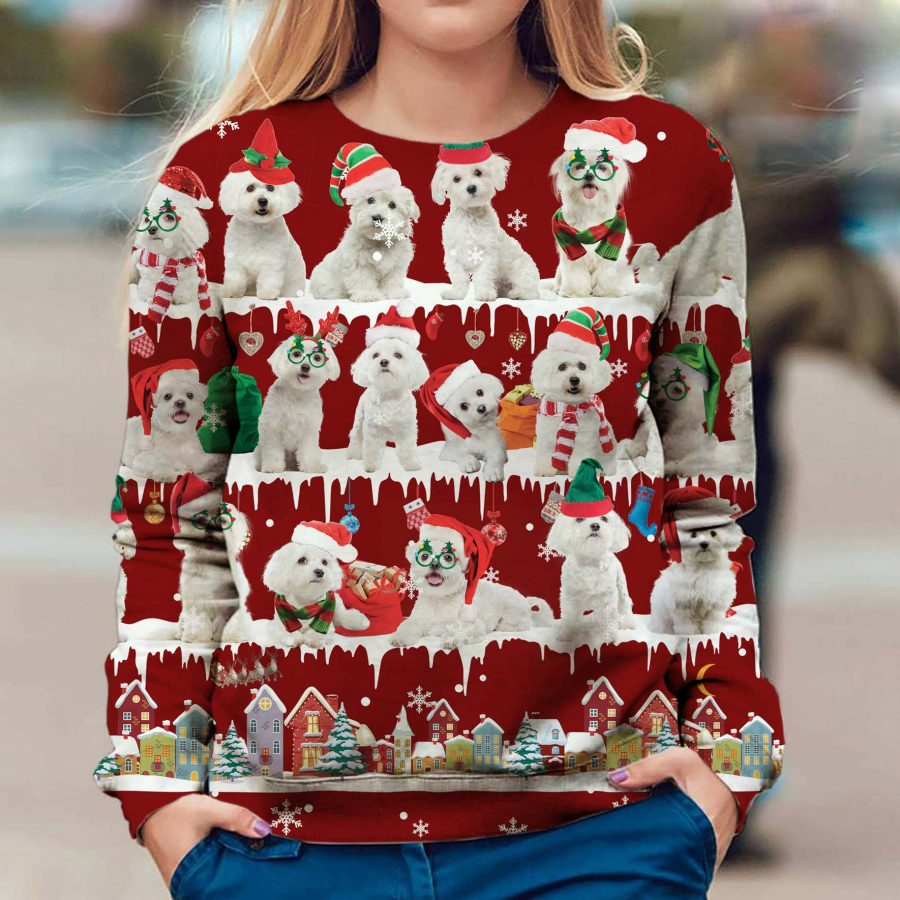 Maltese - Snow Christmas - Premium Sweatshirt