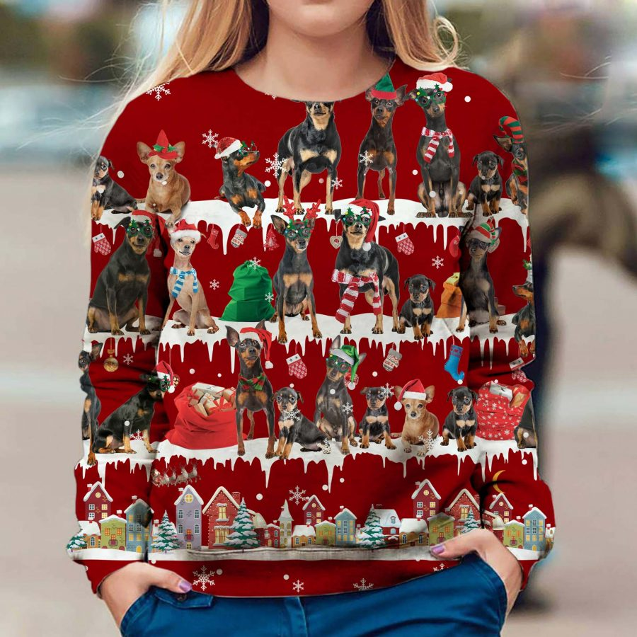 Miniature Pinscher - Snow Christmas - Premium Sweatshirt