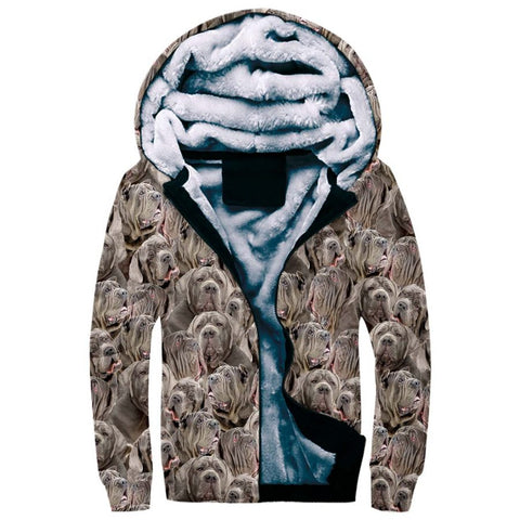 Neapolitan Mastiff Full Face Fleece Hoodie