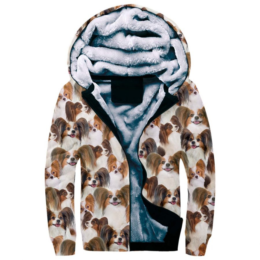 Papillon Full Face Fleece Hoodie