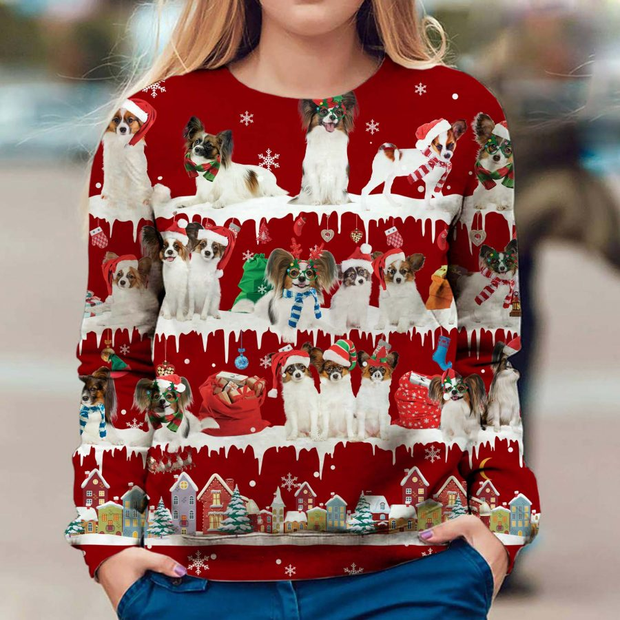 Papillon - Snow Christmas - Premium Sweatshirt