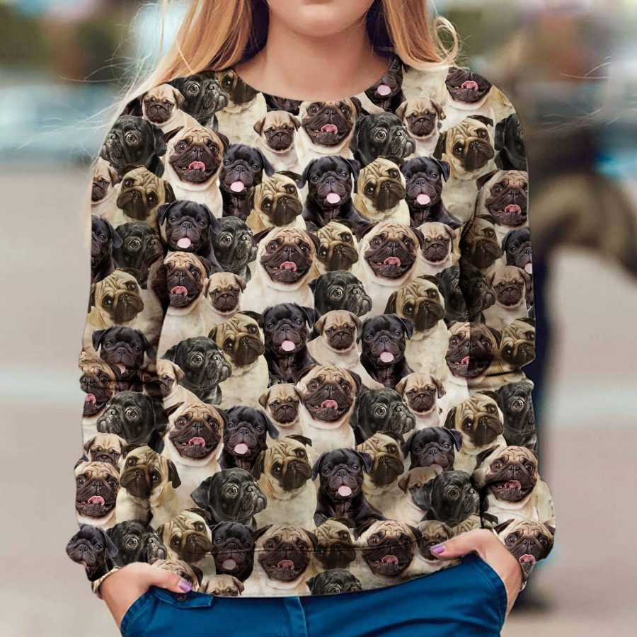 Pug - Full Face - Premium Sweatshirt