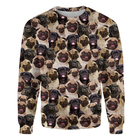 Pug Full Face Sweatshirt