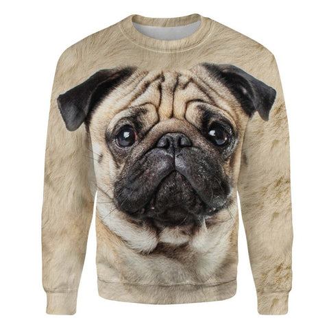Pug Face Hair Sweatshirt