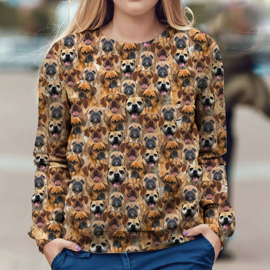 Puggle - Full Face - Premium Sweatshirt
