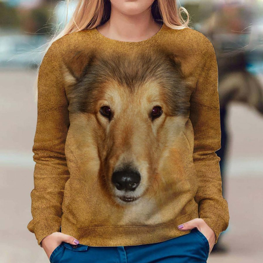 Rough Collie - Face Hair - Premium Sweatshirt