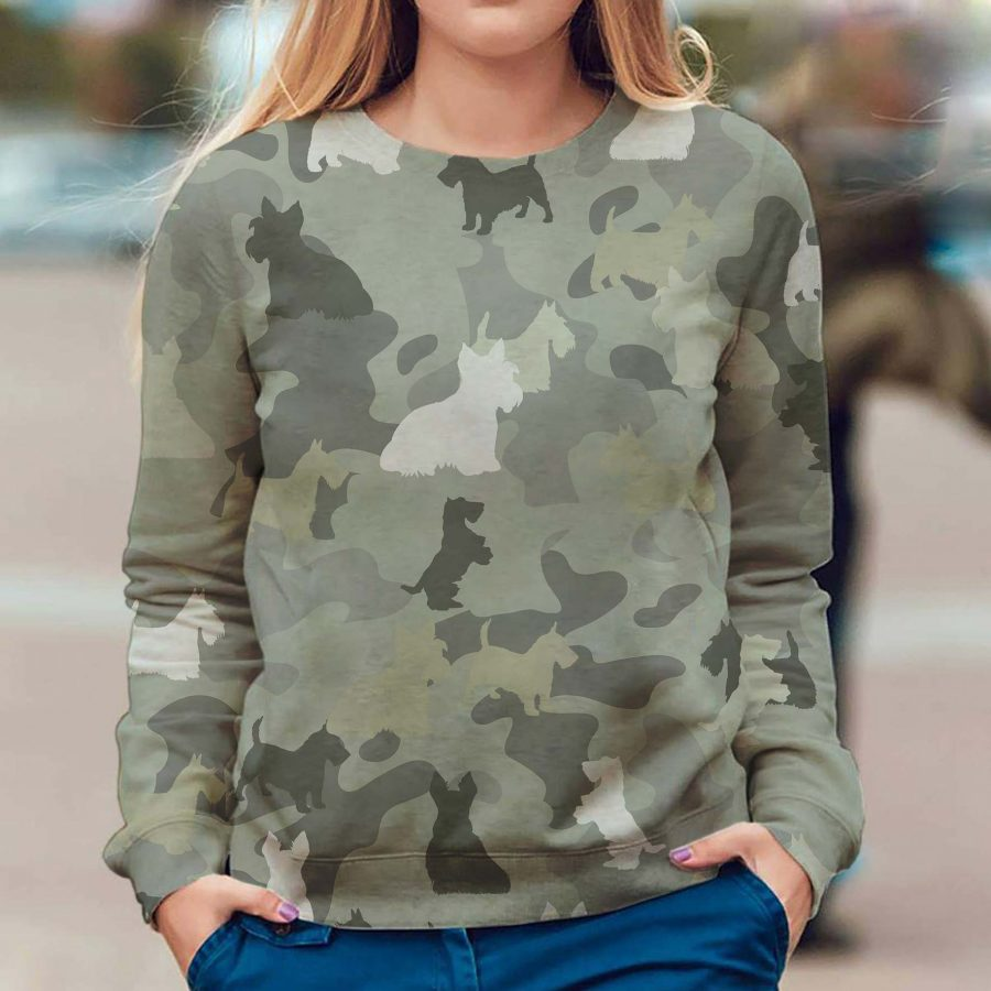 Scottish Terrier - Camo - Premium Sweatshirt