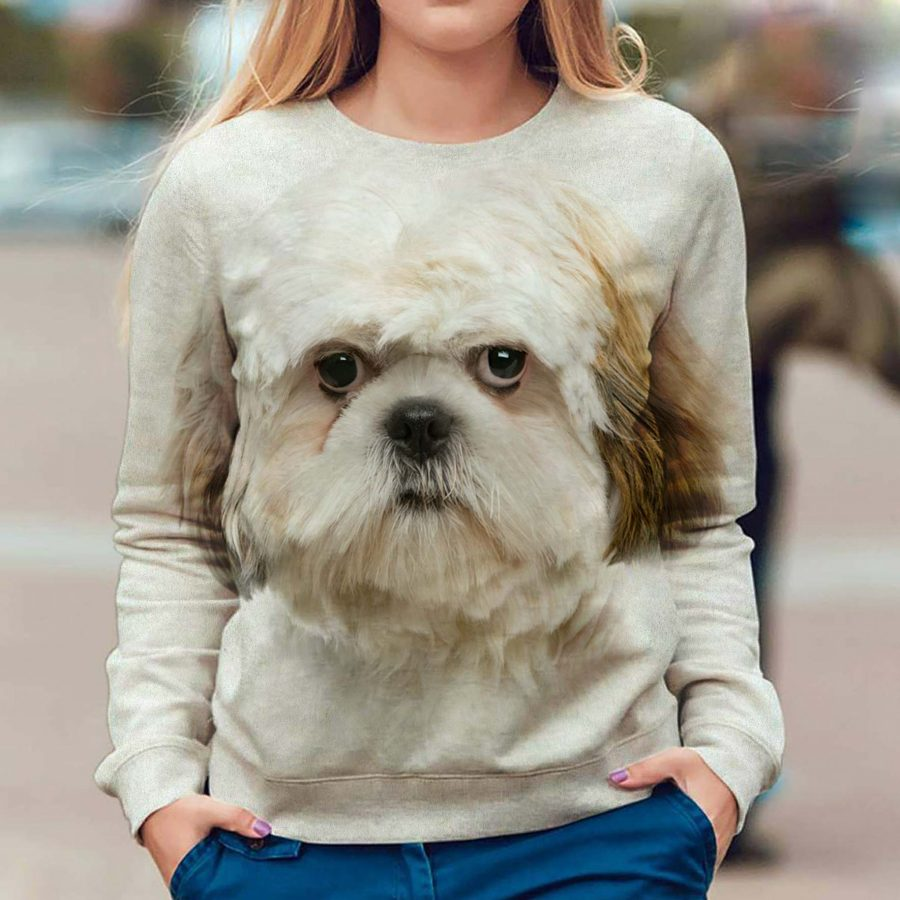 Shih Tzu - Face Hair - Premium Sweatshirt