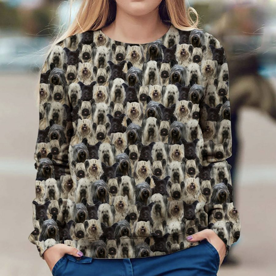 Skye Terrier - Full Face - Premium Sweatshirt