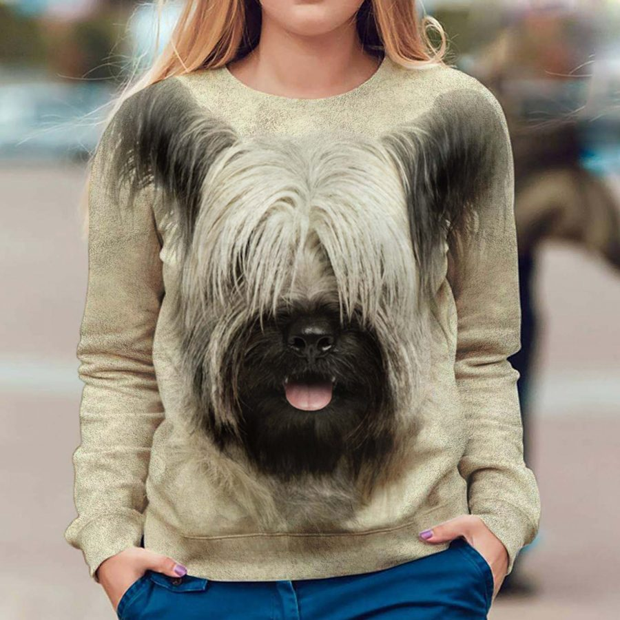 Skye Terrier - Face Hair - Premium Sweatshirt