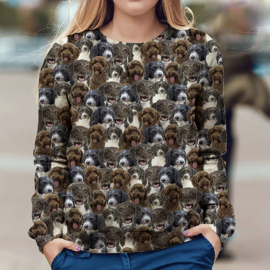 Spanish Water Dog - Full Face - Premium Sweatshirt
