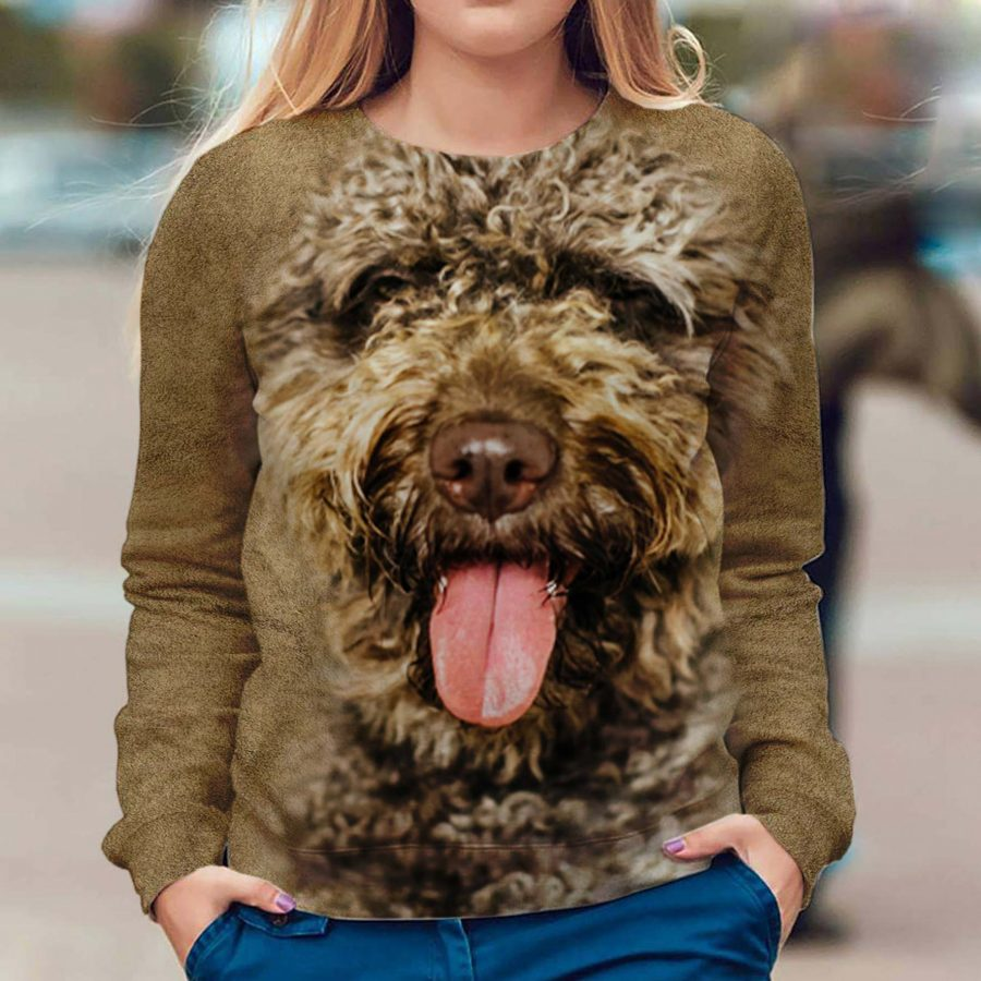 Spanish Water Dog - Face Hair - Premium Sweatshirt