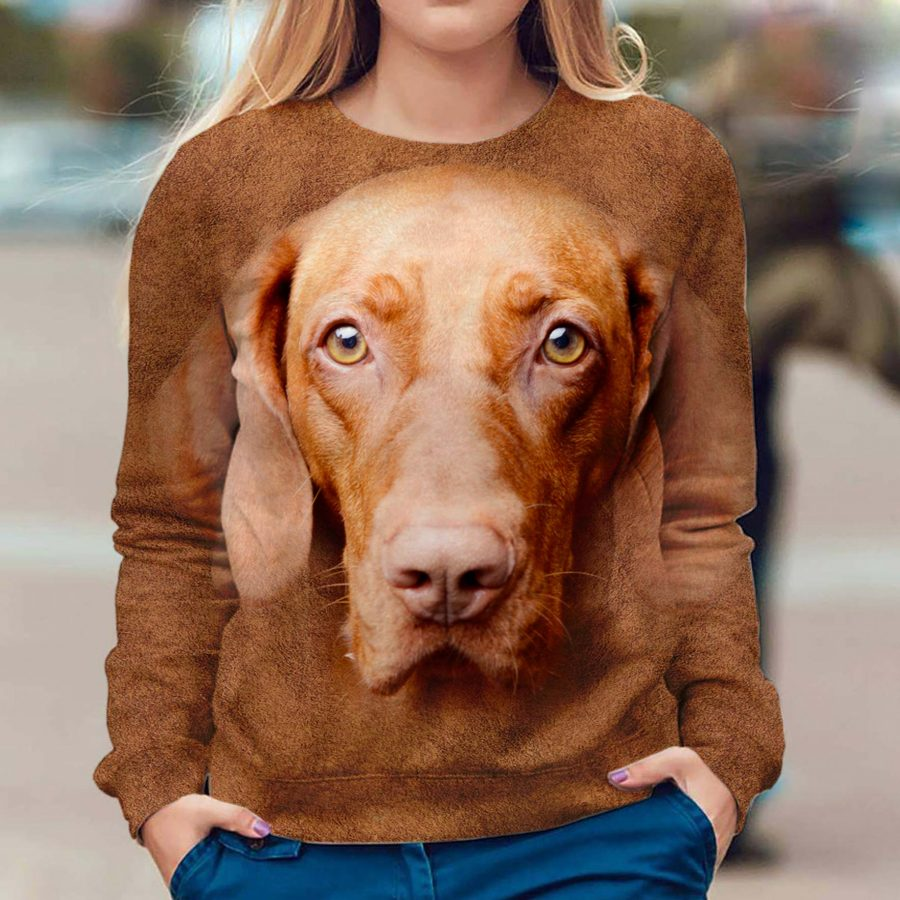 Vizsla - Face Hair - Premium Sweatshirt