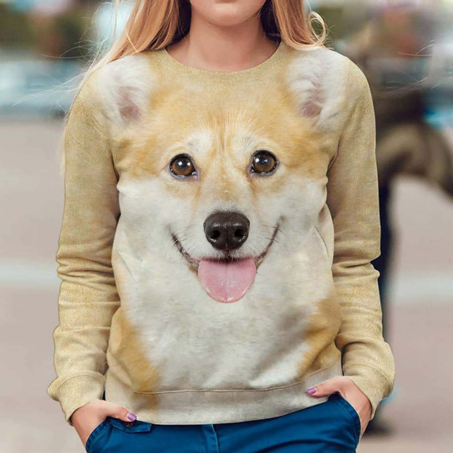 Welsh Corgi - Face Hair - Premium Sweatshirt