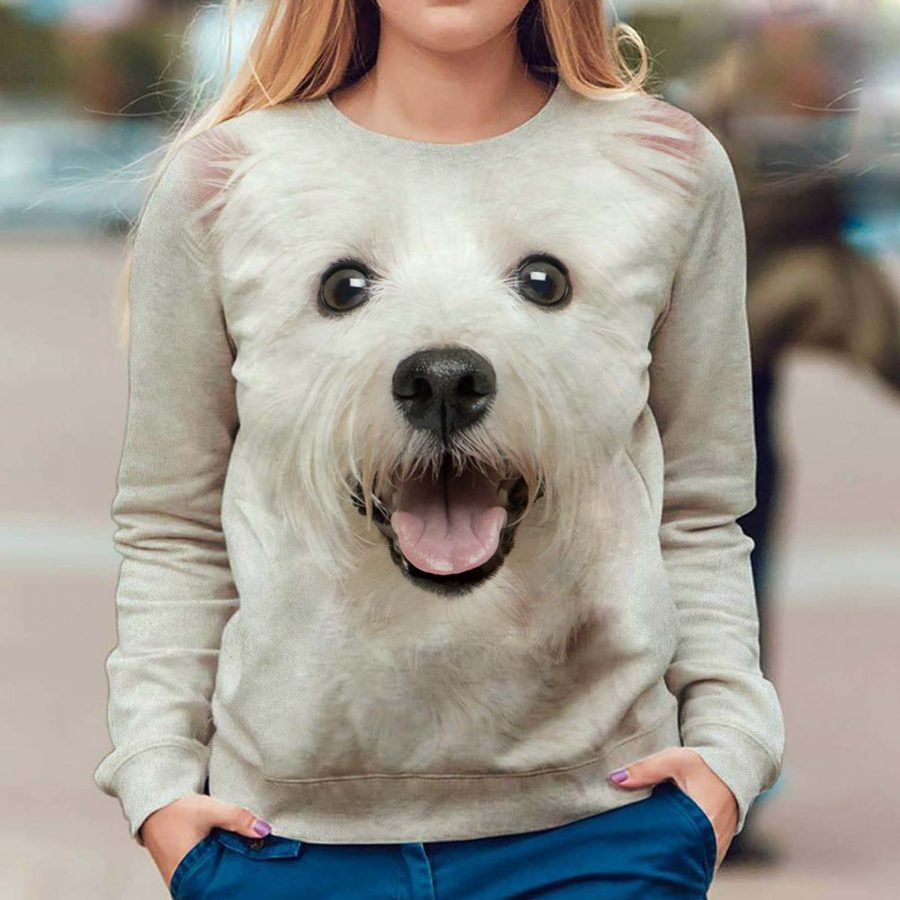 West Highland White Terrier - Face Hair - Premium Sweatshirt