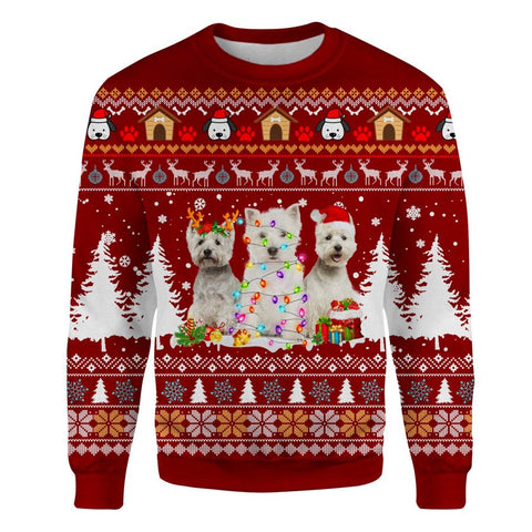 West Highland White Terrier Ugly Sweatshirt
