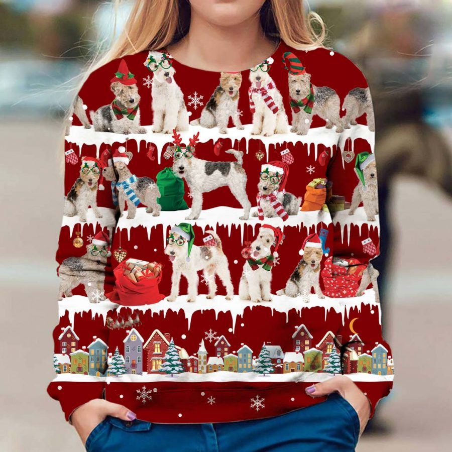 Wire Hair Fox Terrier - Snow Christmas - Premium Sweatshirt