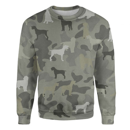 Wirehaired Pointing Griffon Camo Sweatshirt