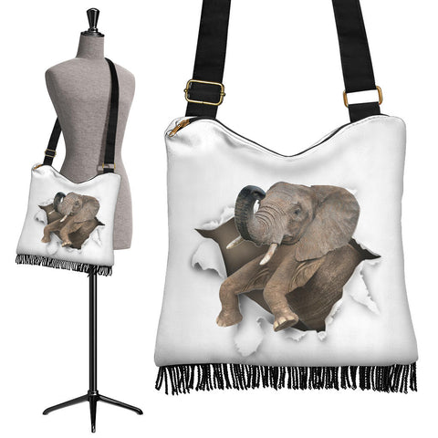 Elephant - Crossbody Boho Handbag