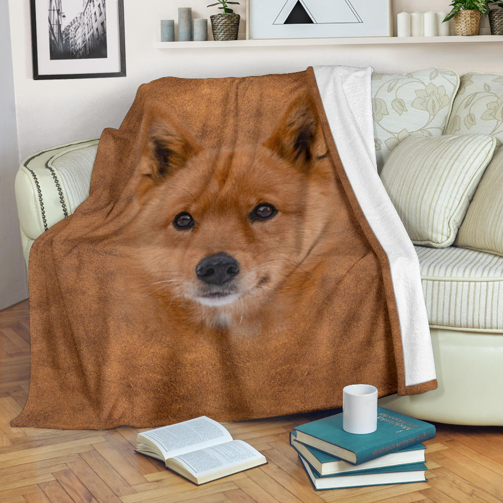 Finnish Spitz Face Hair Blanket
