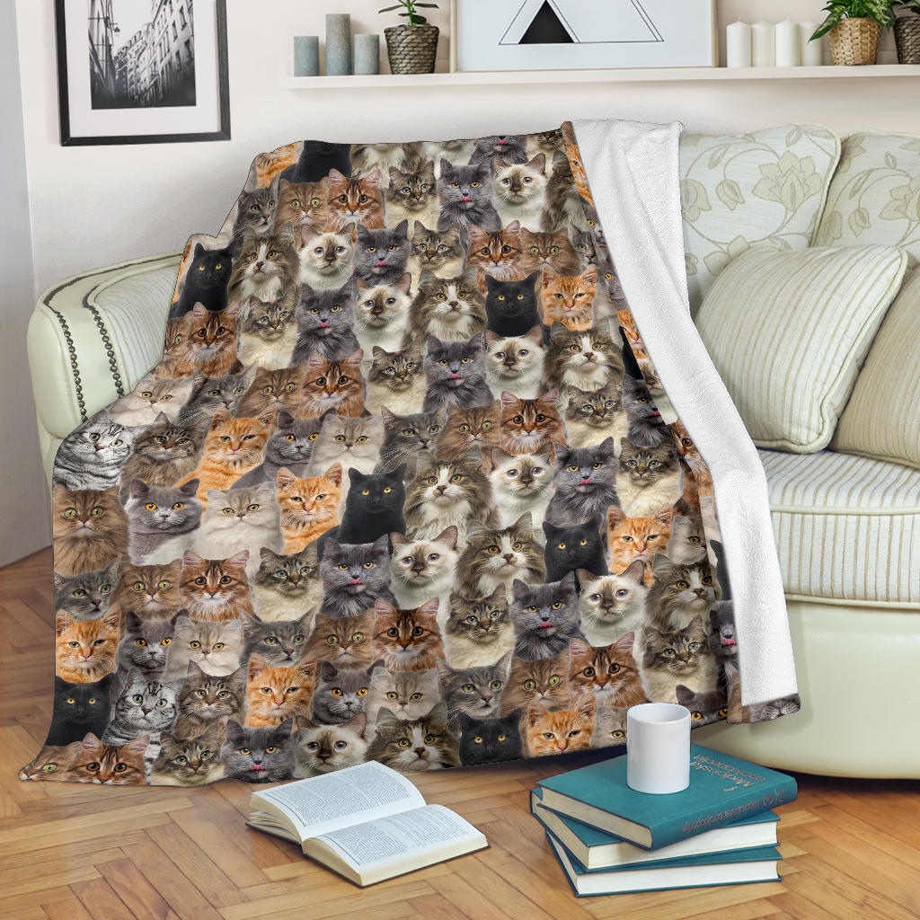 Cat Full Face Blanket