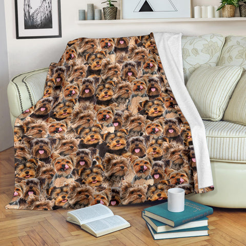 Yorkshire Terrier Full Face Blanket