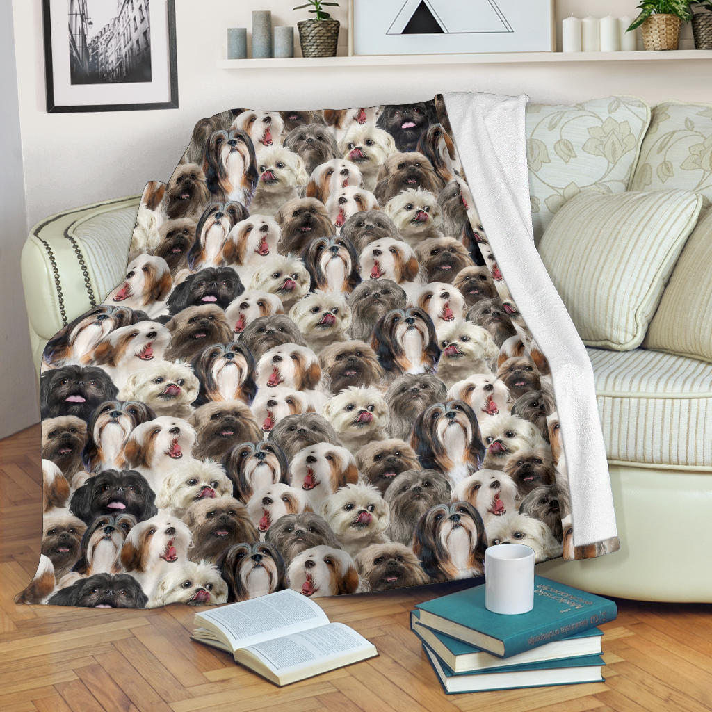 Lhasa Apso Full Face Blanket