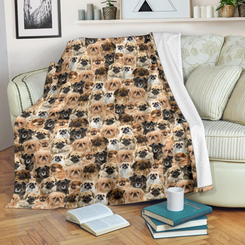 Tibetan Spaniel Full Face Blanket