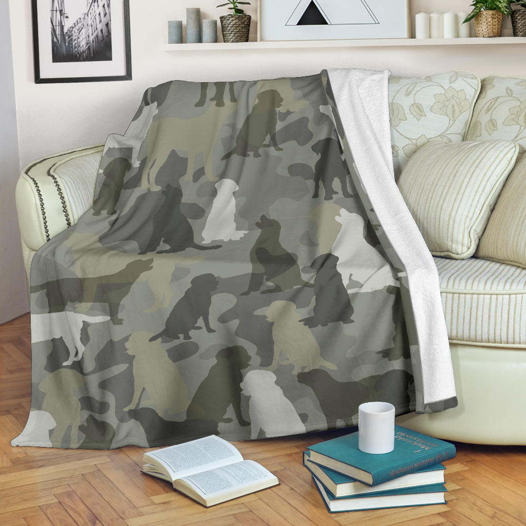 Labrador Retriever Camo Blanket