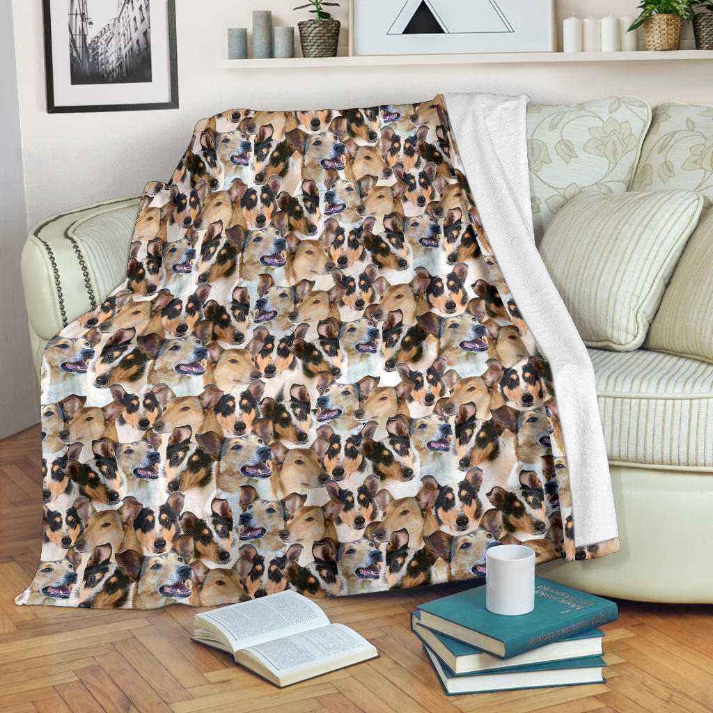 Smooth Collie Full Face Blanket
