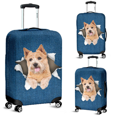 Norwich Terrier Torn Paper Luggage Covers