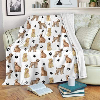 Soft Coated Wheaten Terrier Paw Blanket
